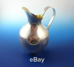 Modernistic Sterling Silver Water Pitcher by International with Gold Wash Inside
