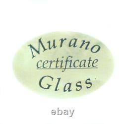 Murano Glass Water Jug Blue Red White Bottle Carafe Pitcher Art Millefiori