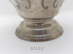 Old Gorham Chantilly Countess Hand Chased Sterling Silver Water Pitcher #1031-2