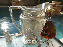 Old Large Pitcher Whiting Sterling Silver Wine Water Jug Ewer Heavy Old Gorham