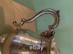 Old Lg. Sterling Silver International Prelude Hand chased WATER PITCHER 682 gr