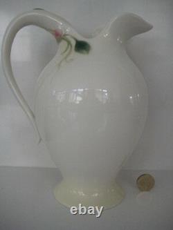 Ornate Franz Porcelain Pretty Sweet Pea Large Jug Pitcher Lemonade Water Fz00411