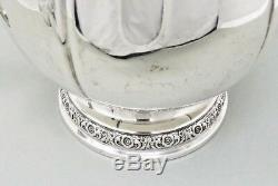 PRELUDE Water Pitcher Sterling International Silver Repousse Hand Chased Vtg