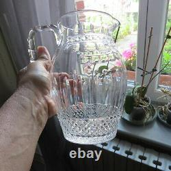 Pitcher To Water Jug Crystal of Saint Louis Model Tommy Signed
