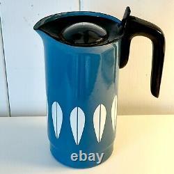 RARE Vintage CATHRINEHOLM Norway Blue Lotus Coffee Perkolator Jug Water Pitcher