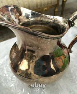 REED & BARTON Plated Water Pitcher with Ice Lip. Regent-Plain 5600 9 H. P