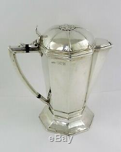 Ramsden & Carr SILVER FLAGON London 1908 Beer Jug, Wine Ewer or Water Pitcher