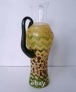 Rare KJELL ENGMAN for KOSTA BODA Can Can Rio ZIG ZAG PITCHER water jug vase WOW