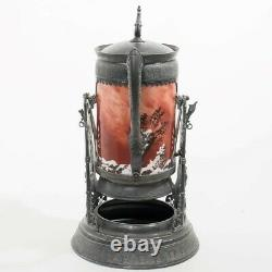 Rare Simpson Hall & Miller Co. Tilting Water Pitcher Silver Stand Baccarat 18 T