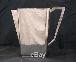 Rare William Van Erp Sterling Silver Hammered Arts & Craft Water Pitcher 44 Oz