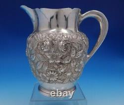 Repousse by Kirk Sterling Silver Water Pitcher Hand Chased #210AF (#4900)
