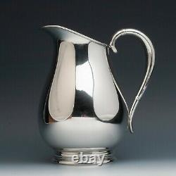 Royal Danish by International Sterling Silver Water Pitcher 8.5 tall, 4 pint