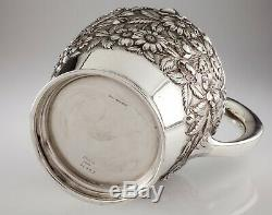 S Kirk & Son. Sterling Silver Hand-Chased Water Pitcher in Repousse 210AF