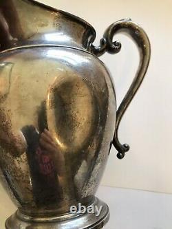 SCRAP or NOT-Sterling Silver Preisner water pitcher-645 grams-dented-tarnished