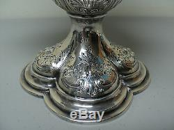 STUNNING ANTIQUE GORHAM STERLING SILVER TALL WATER PITCHER, 38.81 oz. TROY
