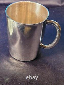 SWEDEN STERING SILVER WATER PITCHER WithWALNUT HANDLE & SOLID STERLING SILVER CUP