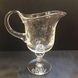 Saint Louis Bubbles Water Pitcher Jug Crystal Original Label Retails $770