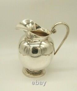 Sanborns Sterling Silver Water Pitcher Art Deco Design 736g