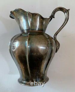 Silver 925 Pitcher Jug Water Vessel Vintage Sterling Antique Style Pot Handle