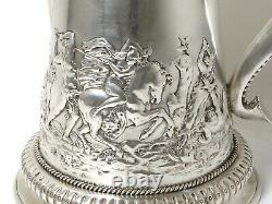 Silver water pitcher (jug) with a lid. Denmark, 18th century