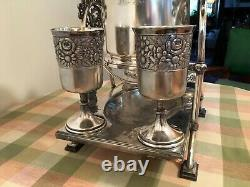 Spectacular Tilting Water Pitcher Rogers Smith, Quadruple Silver Plate