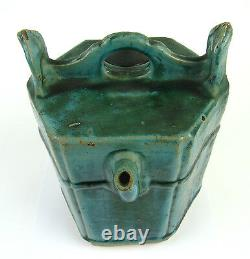 Splendid Antique 18thC Chinese Green Glazed Ceramic Water Pot Jug Pitcher