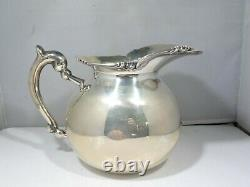 Squat Camusso Sterling Silver Water Pitcher 13.09 Troy Ounces