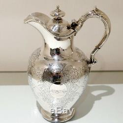 Sterling Silver Hot Water Jug London 1860 Edward & John Barnard