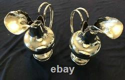 Sterling Silver Pair Water Pitchers Opaisa R1090