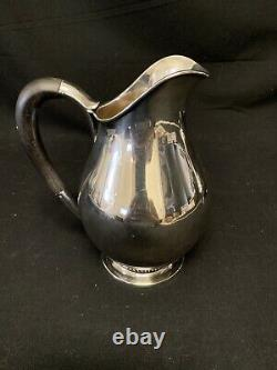 Sterling Silver Water Pitcher By CC Hermann Denmark N 81 Danish Style