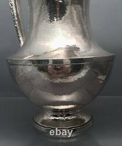 Sterling Silver Water Pitcher / Ewer in Arts & Crafts Design