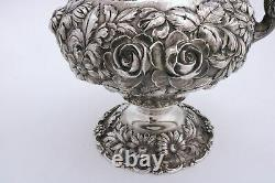 Stieff Repousse Sterling Silver Water Pitcher Large