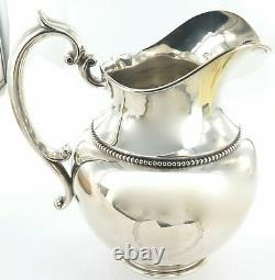 Stunning / Huge / Vintage USA Shreve Crump & Low Sterling Silver Water Pitcher
