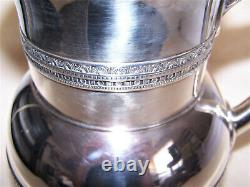 Tiffany & Co Antique Victorian Dated 1880 Sterling Silver Water Pitcher & Tray