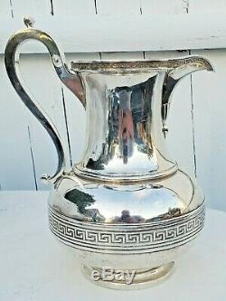 Tiffany & Co. Sterling Silver 916 Greek Key Water Pitcher-rare-free USA Ship