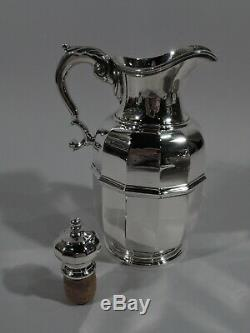 Tiffany Water Carafe & Cup on Tray 48175 & 20774 American Sterling Silver