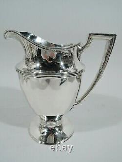 Tiffany Water Pitcher 18181 Art Deco American Sterling Silver 1947/56