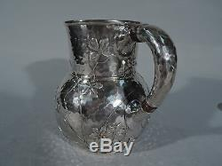 Tiffany Water Pitcher 3077 Japonesque Sterling Silver Mixed Metal