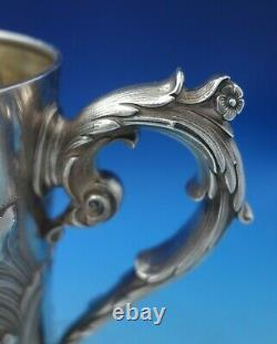 Tiffany and Co Sterling Silver Water Pitcher withGW and Mythological Putti (#5220)