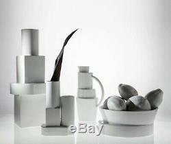 Tom Dixon Ceramic Earthenware White Block Water Jug