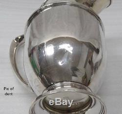 VINTAGE M. FRED HIRSCH CO. LARGE WATER PITCHER 402 STERLING SILVER 10 1/8 704g