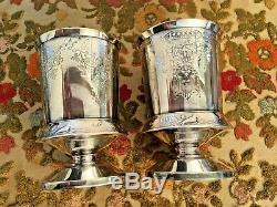 Victorian Era Meriden B. Co Tilting Water Pitcher/stand/ 2 Goblets Unique Design