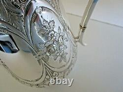 Victorian Silver Plated Hot Water Jug, Martin, Hall & Co, Circa 1880