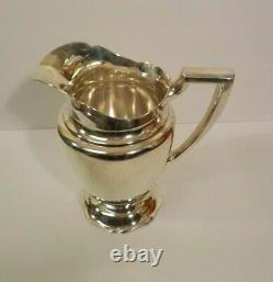 Vintage Alvin Sterling Silver 9 Water Pitcher, 1046 grams, No Monograms