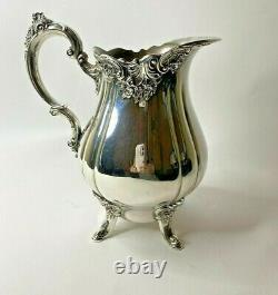Vintage Baroque by Wallace Silverplate Water Pitcher 267 10 Tall w Sticker