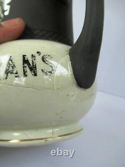 Vintage BuchananS Polo Player Pub Jug Black And White Water Pitcher AdvertiseF
