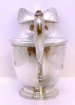 Vintage Ellmore 925 Sterling Silver 1918 8-1/4 48oz Water Pitcher ENGRAVED 1941