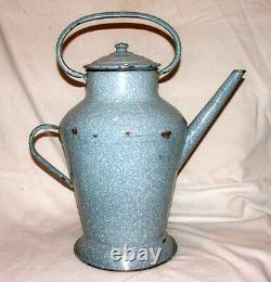 Vintage Enamel Ewer / Pitcher / Jug / watering can French