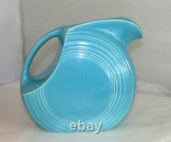 Vintage Fiestaware Fiesta Turquoise Disc Water Jug Pitcher