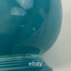Vintage Fiestaware Ice Lip Pitcher Water Jug Turquoise Glaze 1930s Made USA